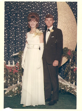 Melanie Harris & David Stanfield -  Senior Prom    1966