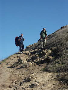 Hiking up Mission Peak to the East Launch 11/6/04