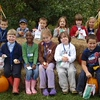 This is St. Mary's 1st grade class in Ticonderga, New York. The children were on a field trip to Billy Bob's Orchard in Putnam, New York. Here they are with their bag full of Macintosh Apples.