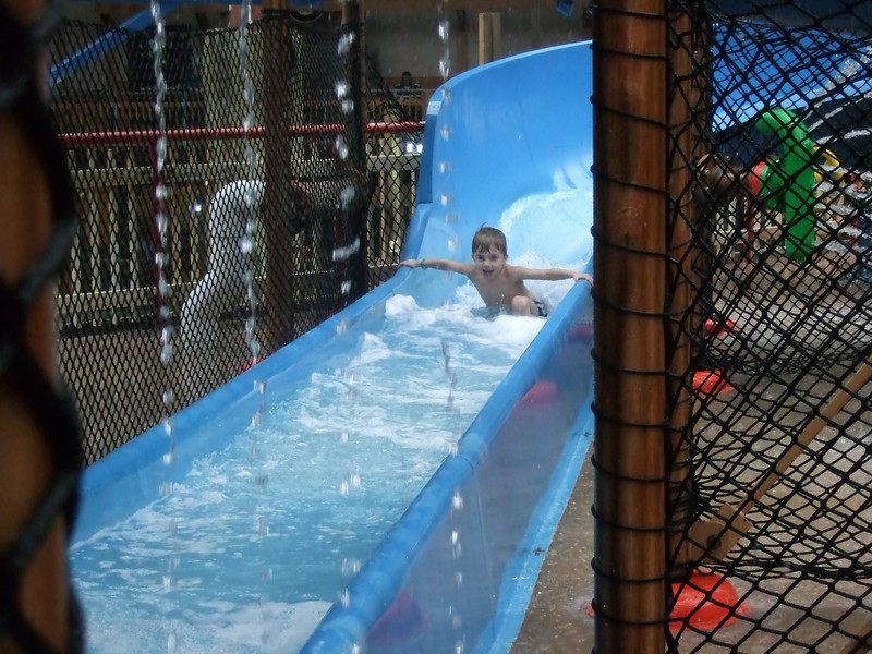 Drew coming down the slide