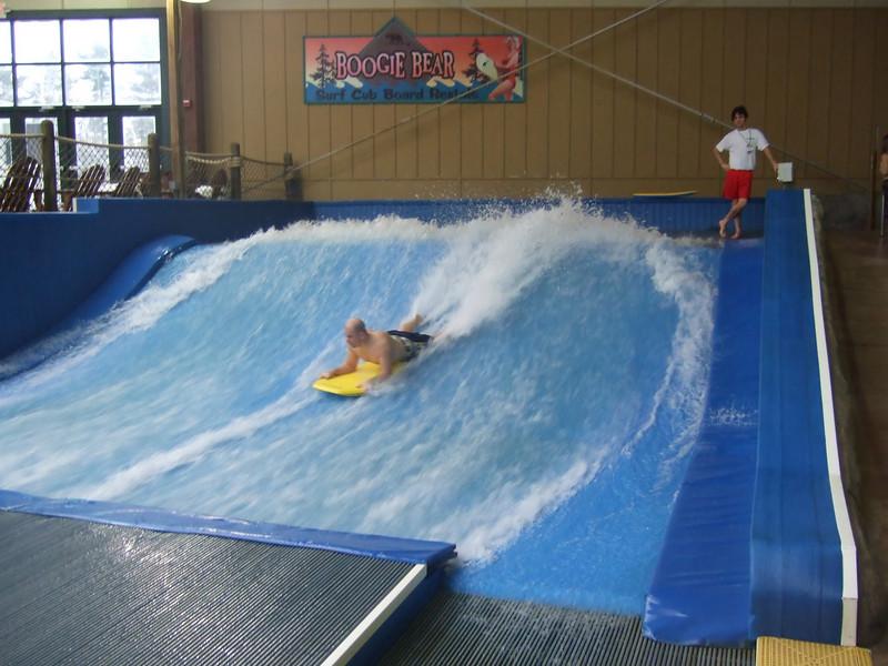 Scott riding the Boogie Bear Surf