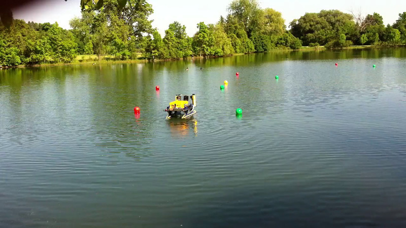 Autonomous run in the pond at Gallop Park