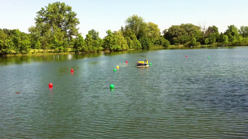 Testing in the pond at Gallop Park