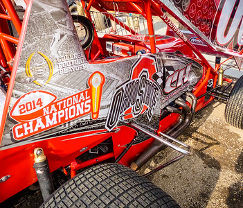 This awesome paint scheme was on the 360 car of Kyle Sauder as a tribute to OSU after winning the college football championship.