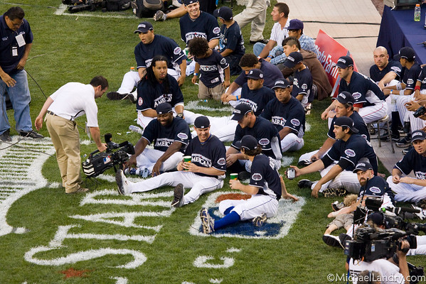 The other players get a front row seat... (American League)