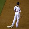 Justin Morneau on second base