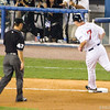 J.D. Drew rounds the bases after hitting a 2-run homer