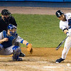 Derek Jeter hits one back to the mound