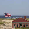 Race Point Aid Station, as seen from Race Point Lighthouse.