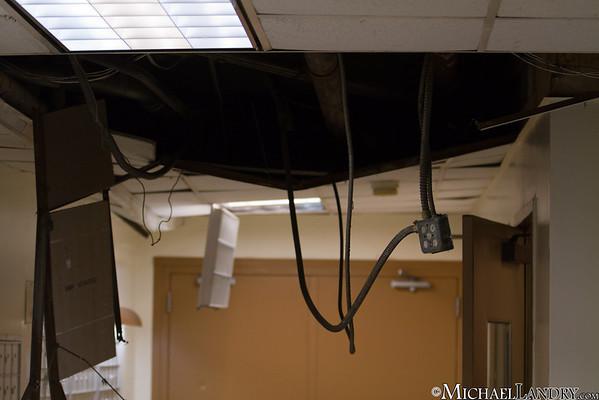 The lobby of my building - ceiling ripped down  Park Slope, Brooklyn Tornado 9/16/10 - (c) Michael Landry.com