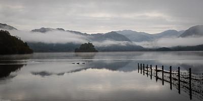 Derwent Water on a Misty Morning