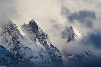 Teton Peaks in the Cloud