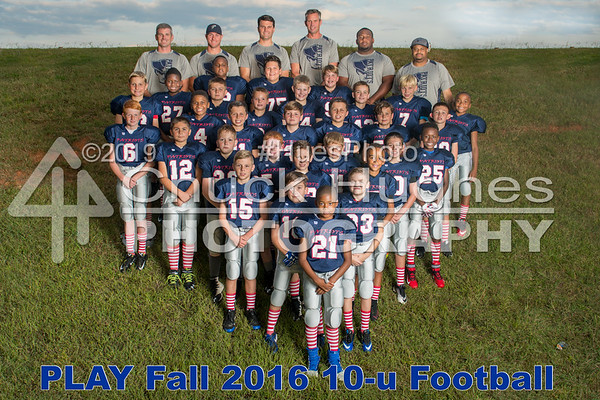 PLAY Fall 2016 10u Football Individuals and Groups