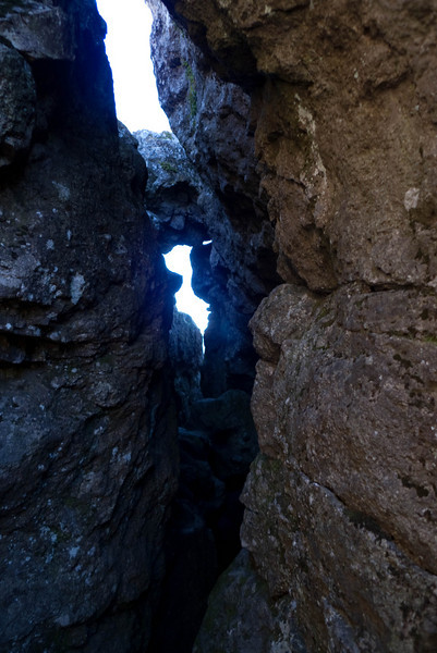 The caves inside the ledge.  You can get through and come out on another lookout, but this is as far as I wanted to go.