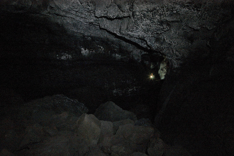 This is another long exposure inside the cave.  Most of the lighting came from my LED headlamp.
