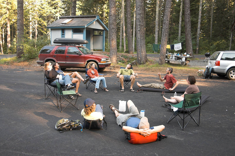 Kamping on asphalt.  Somehow we all liked it, but none of us expected to.