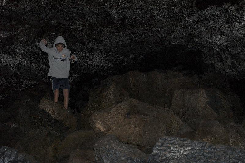 Random kid jumping down in Ape Caves