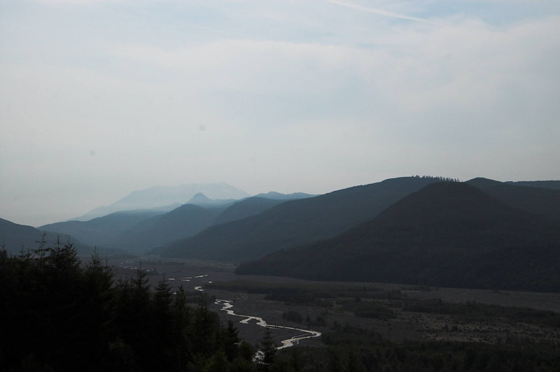 One of the views driving up to Mt St Helens along highway 504.  It was disappointing to see the clouds on Monday after a wonderfully clear Sunday.