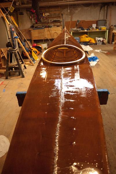 Steve's boat after coating
