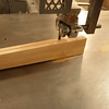 Cutting the taper on the bandsaw