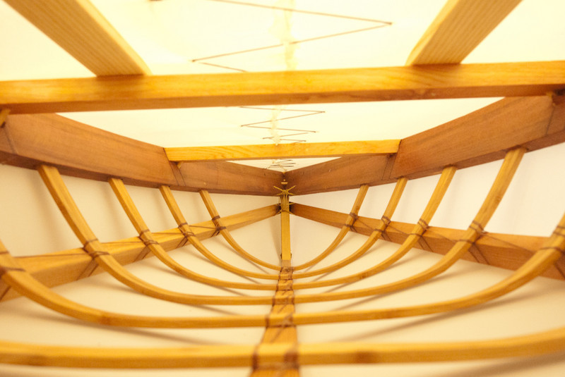 My boat, from the inside, fully tensioned