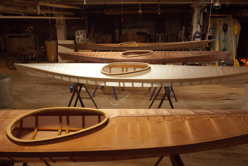 The boats just before coating