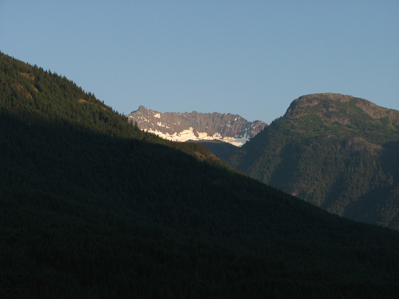 Jack Glacier.  This was our main view from Dry Creek