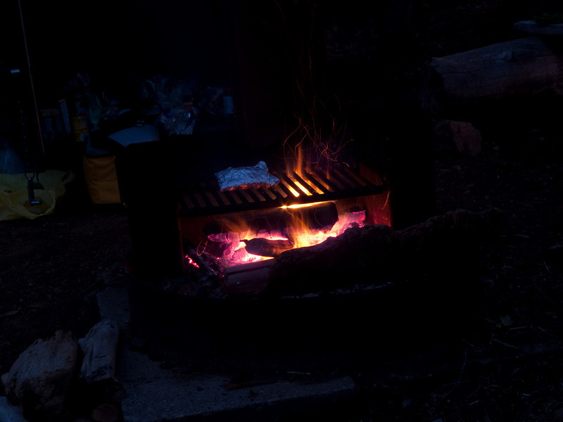 Cooking up salmon on the fire