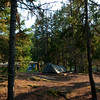 Our campsite at Dry Creek