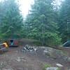 Cougar Island campsite