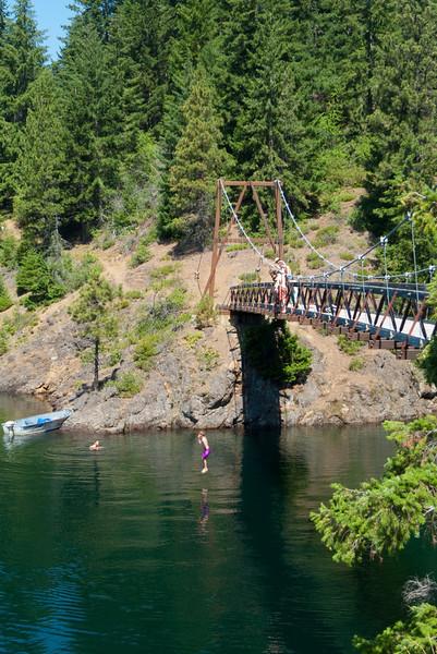 Jumping off of the bridge
