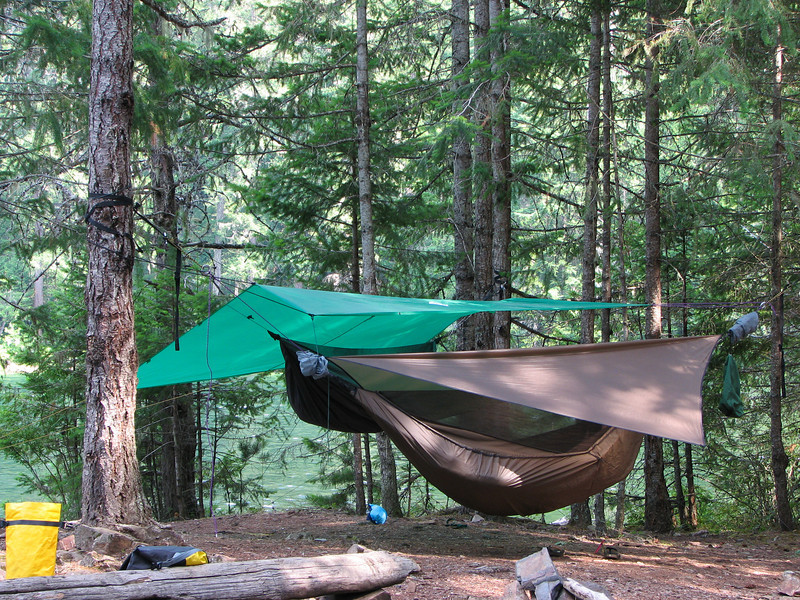 We used hammocks at Spencer's camp site