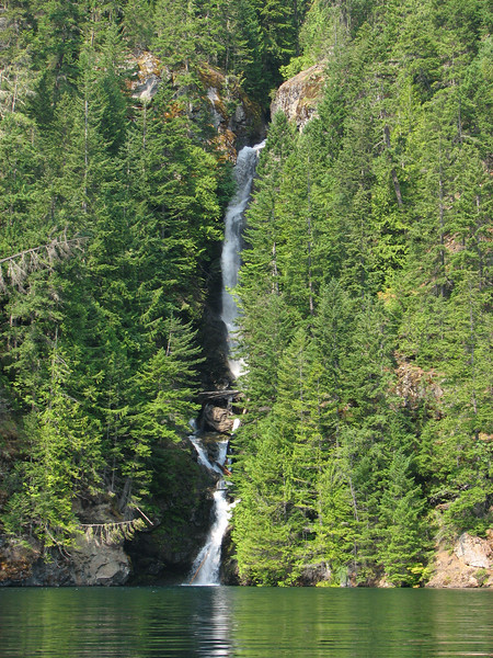 Waterfall across from 10 mile island