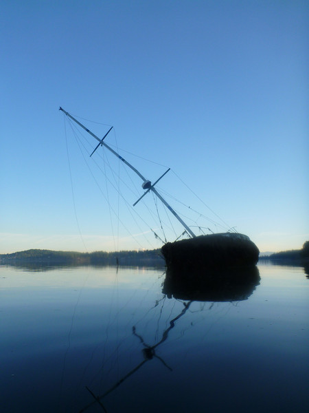 I found this large sailboat abandoned on a beach by the Swinomish Indian Reservation
