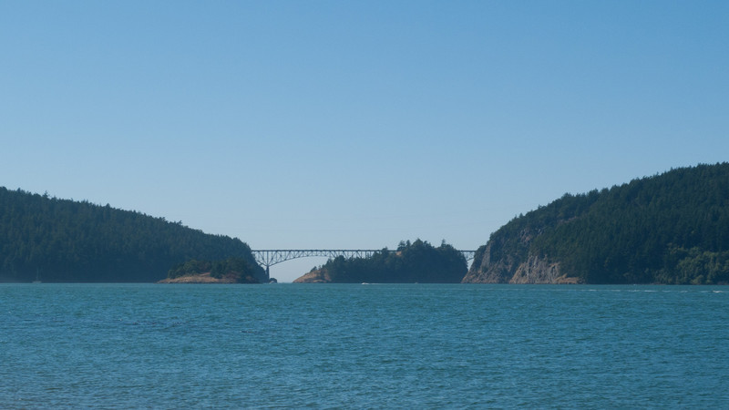 Deception Pass Bridge.  We didn't get too much closer.