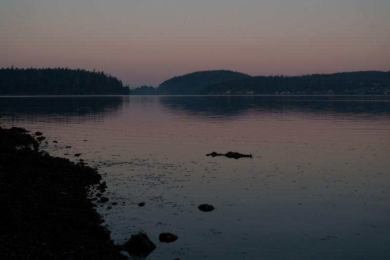 sunrise looking towards Deception Pass