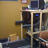 Treadmill desk setup that one of my coworkers has.