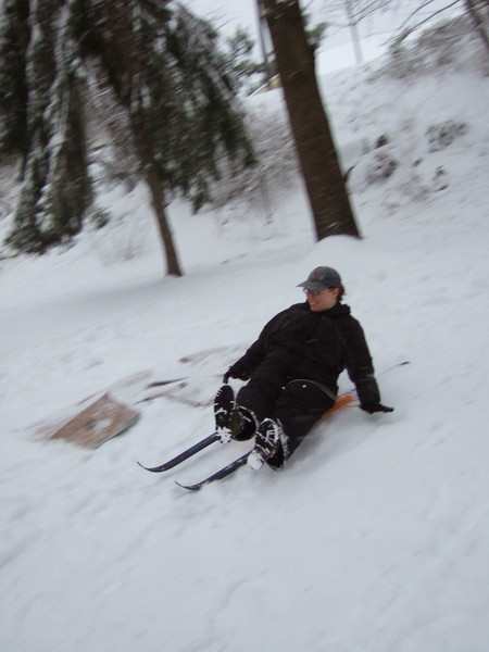 Ski Sled in action.