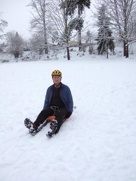 I forgot to take off my bike helmet when I get off of the bike.