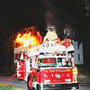 Taftville and Occum Fire work a vacant apartment building arson fire. Ladder 2, Former FDNY