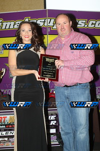 "Dennis ""Rambo"" Franklin accepts his fathers Crew Chief of the Year Award"