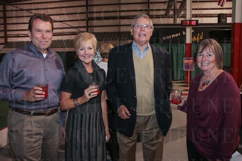 Fred and Karen Wyatt, Bill Samuels and Peggy Kilgore.