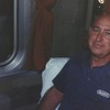 Dad on the train to the East coast with mom 9/86