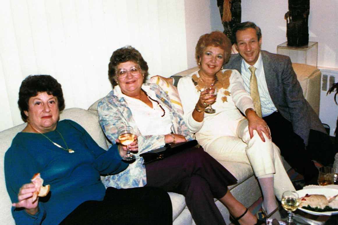 Aunt Bea, Mom Jeannie, and Miltie Harris