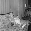 April 1963<br /> <br /> Joy new born and Charles 2 1/2 years old