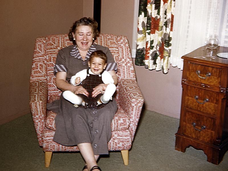 Grandma Rose with Dave Schwartz in Peekskill, NY