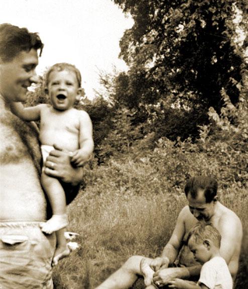 Lenny Schwartz with son, Steve