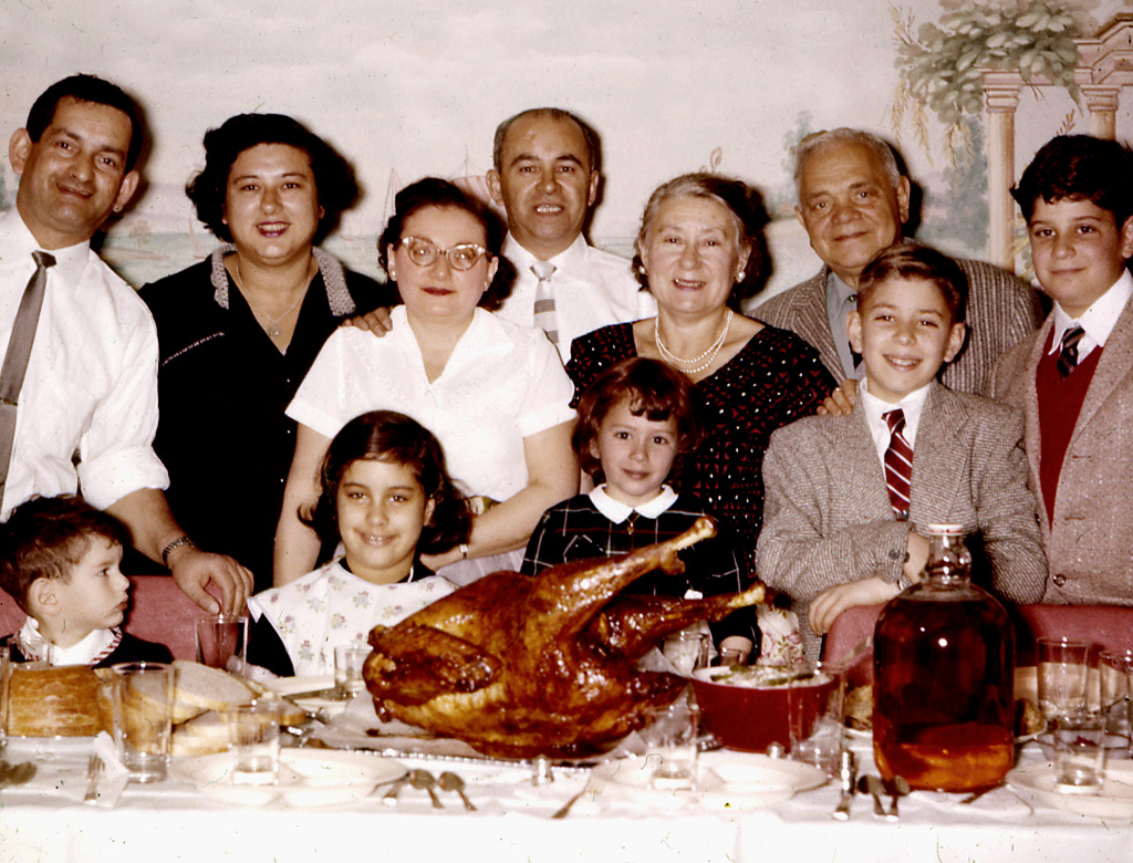 Thanksgiving at Bea and Joe Katz's house in Brooklyn during late 1950's.