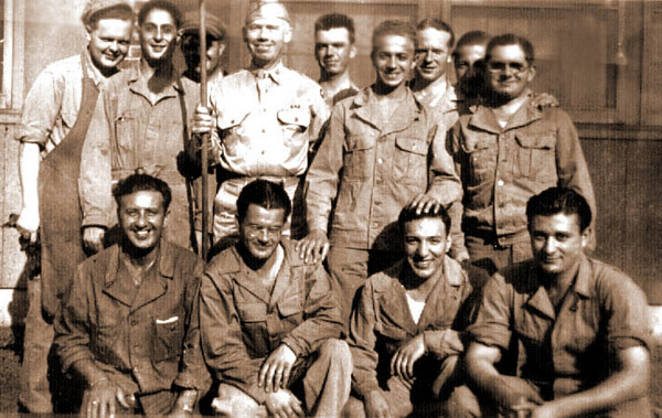 Army photo with Lenny Schwartz.