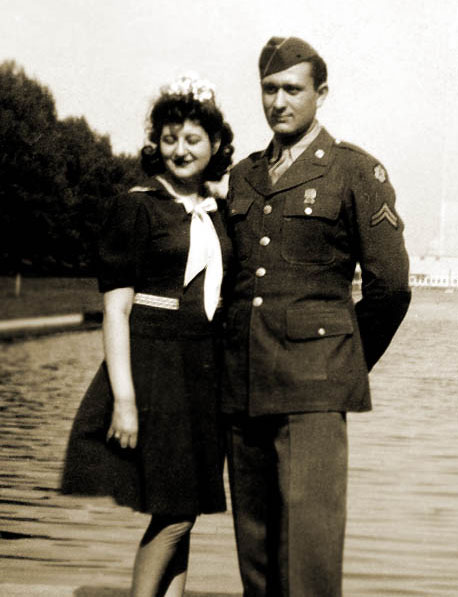 Cynthia and Leonard Schwartz in Washington, DC... at the reflecting pool.  You can barely see the Capitol in the background.